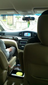 television in the car
