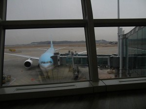 My plane to Fukuoka